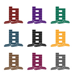 jenga icon in black style isolated on white vector image