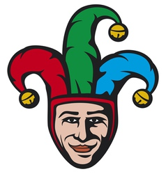 jester head vector image vector image