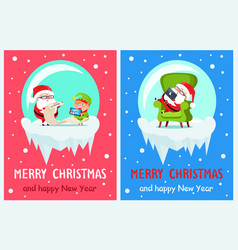 list of gifts merry christmas vector image vector image