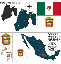 Map of mexico vector