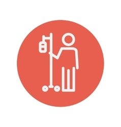 Patient thin line icon vector