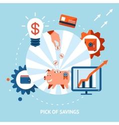 Pick of savings vector image