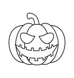 Pumpkin lantern icon outline style vector
