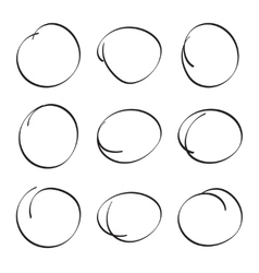 Set hand drawn ovals vector image vector image
