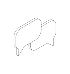 Speech bubbles icon isometric 3d style vector image