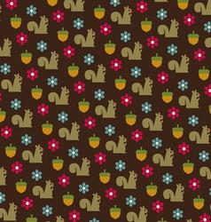 Squirrels and acorns pattern vector