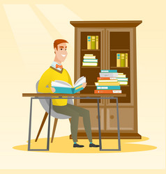 student reading book vector image