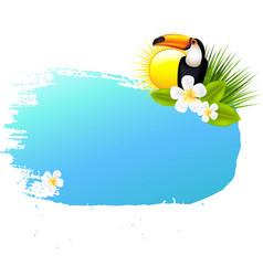 Summer Banner Blots For Design vector image vector image