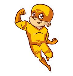 superhero boy cartoon character vector image