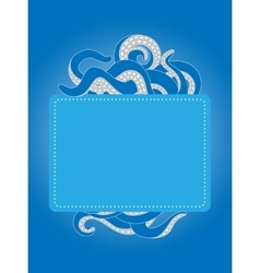 Tentacles template with copy space vector image vector image
