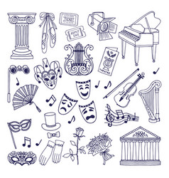 theatre set opera and ballet vector image