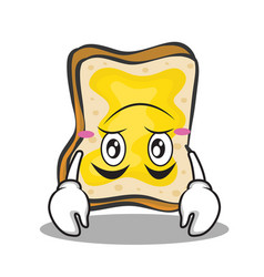 Upside down face bread character cartoon vector