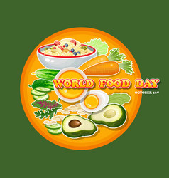 world food day greeting card vector image vector image