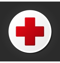 First aid medical sign icon vector