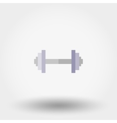 Dumbbell icon flat vector