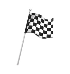 Flag checkered race vector