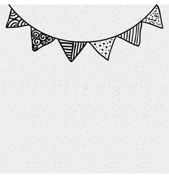 Garland party decoration drawn vector