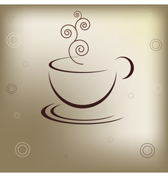 Cup of hot drink vector