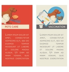 Set of vertical banners pet care vet clinic vector