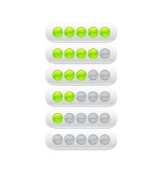 progress bar from green circles vector image