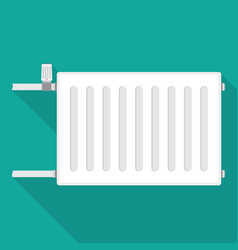 Metal radiator for heating systems vector