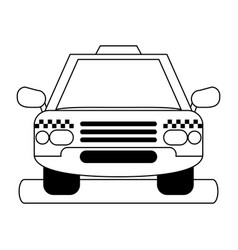 Cab silhouette vector