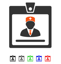 doctor badge flat icon vector image