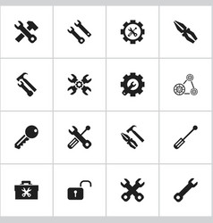 set of 16 editable mechanic icons includes vector image