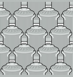 Trash can seamless pattern wheelie bin background vector