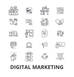 digital marketing business media social web seo vector image