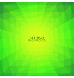 Abstract green geometric tunnel background vector