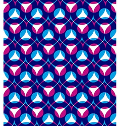 Colorful seamless pattern with red and blue vector image