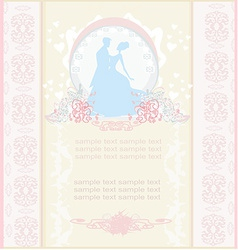 Elegant wedding invitation with dancing wedding vector