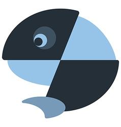 Iconic fish design vector