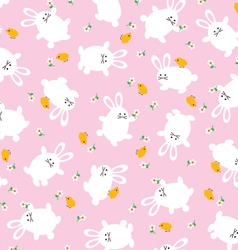 Bunnies and chicks vector
