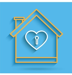 House heart key vector