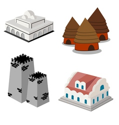 construction isometric vector image