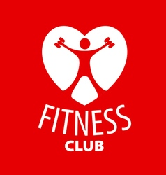 Logo in the shape of a heart for a fitness club vector