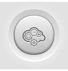 Cloud Processing Icon vector image