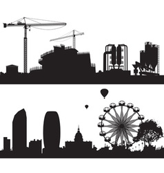 Constructiob Site and City Landscape vector image
