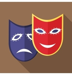 Carnival mask icon flat style vector