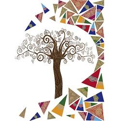 Art tree wave concept vector