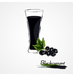 Blackcurrant juice vector
