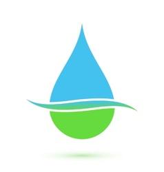 Blue and green drop symbol vector