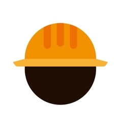 Builder constructor character icon vector