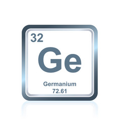 Chemical element germanium from the periodic table vector