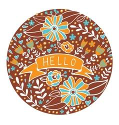 Concept hello card vector image vector image