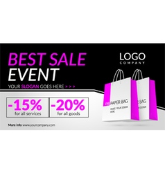 Corporate banner for Best sale event vector image vector image