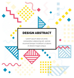 design abstract geometric pattern and background vector image vector image