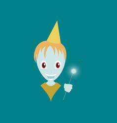 flat on background of child sparkler vector image vector image